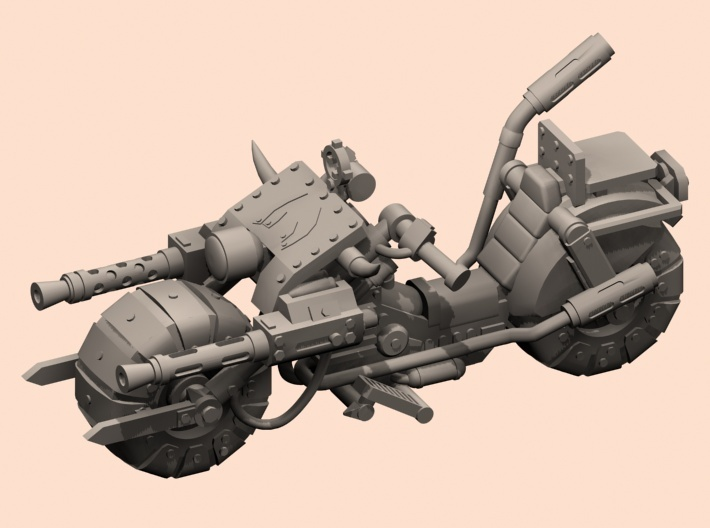 28mm space orc bike 3d printed