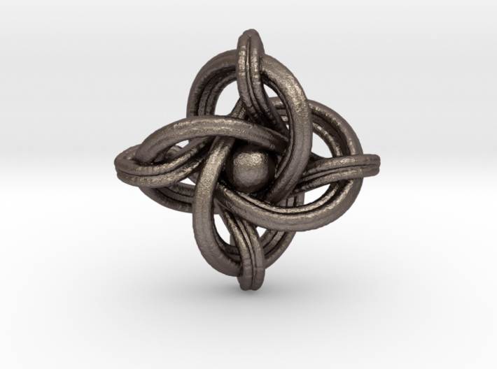 A small 23mm version of the infinity knot 3d printed