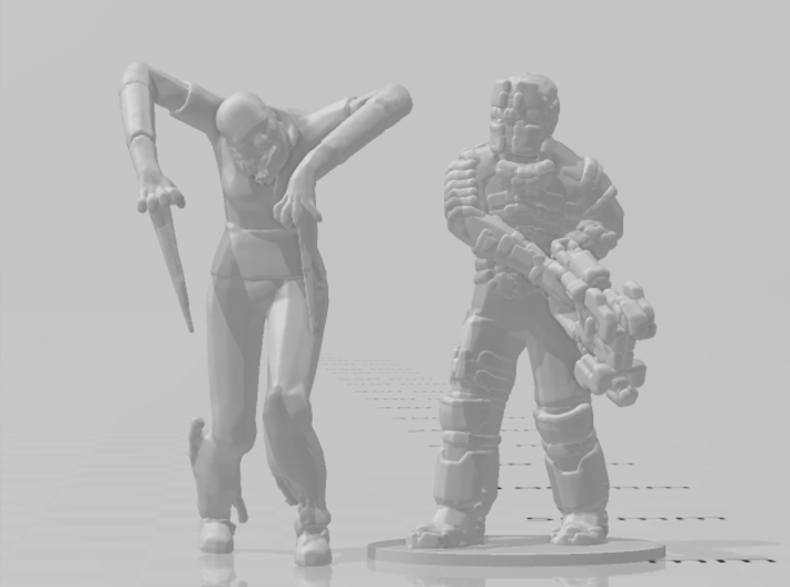 Dead Space Female Slasher 1/60 miniature games rpg 3d printed