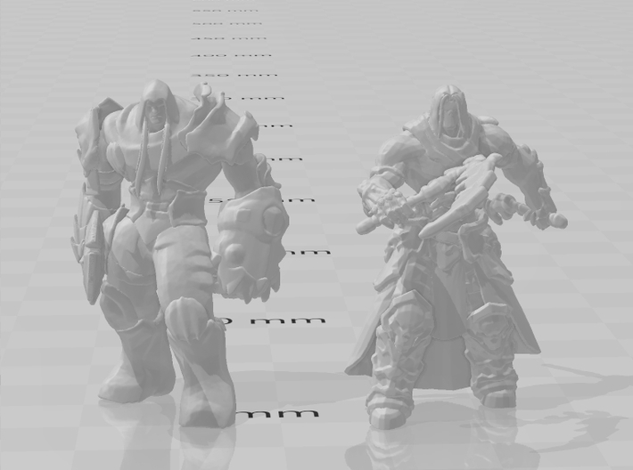 Darksiders War 1/60 miniature for games and rpg 3d printed
