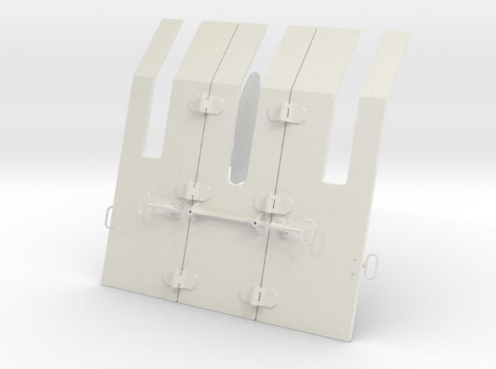 1/5 DKM 3.7cm Flak M42 Single Mount (Shield) 3d printed