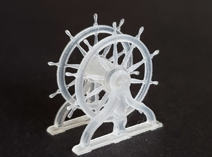 1/96 Ship's Wheel (Helm) for USS Constitution 3d printed Actual 3D-printed model.