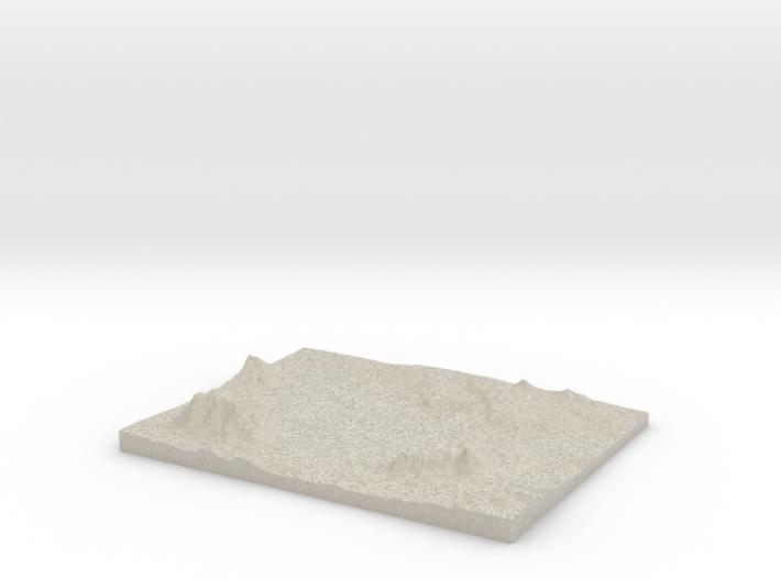 Model of Antero Reservoir 3d printed