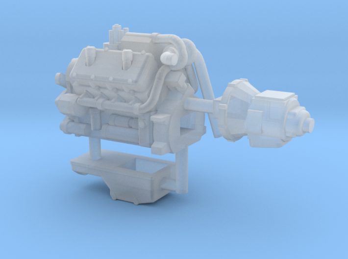 1/87th Engine similar to Cat 3408 3d printed