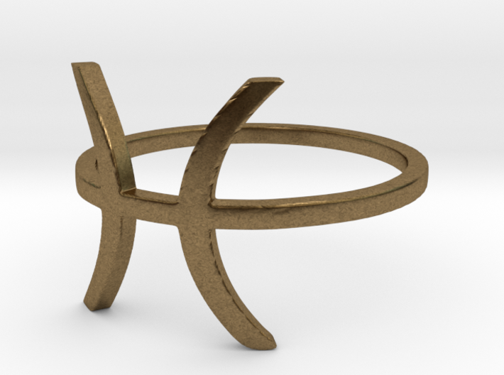 Pisces Ring - Pisces Zodiac Ring 3d printed
