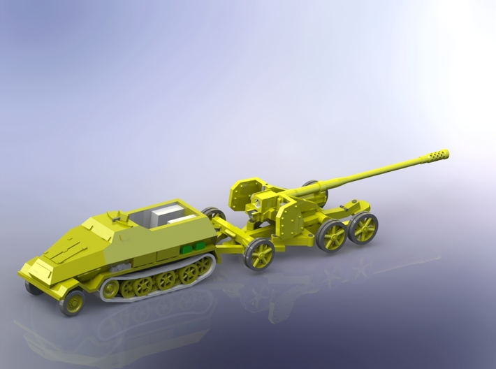12,8cm Kanone 44 (Pak 44) with sd.Kfz. 8 1/144 3d printed