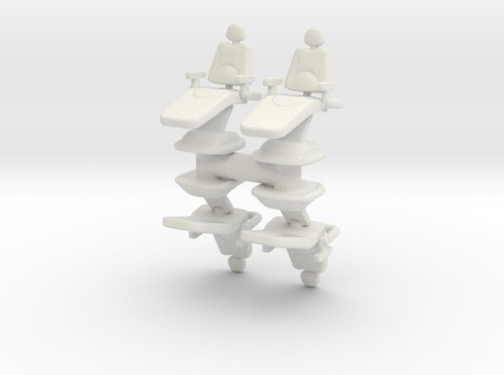 Dentist Chair (x4) 1/100 3d printed