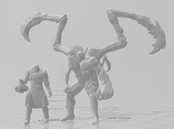 Resident Evil Nemesis 1/60 miniature for games rpg 3d printed