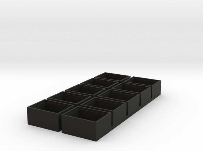 single insert 18x13 speaker box 9.5mm deep qty10 3d printed