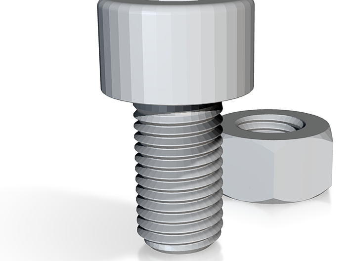 Small Nut & Bolt 3d printed