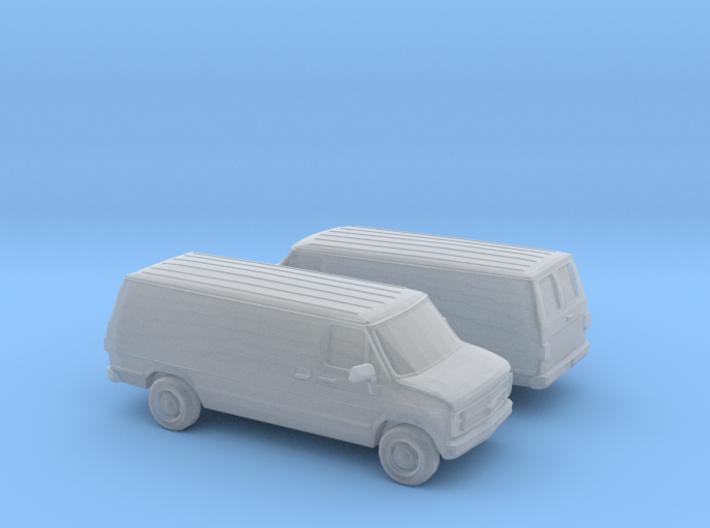1/120 1988 Chevrolet G Series Van 3d printed