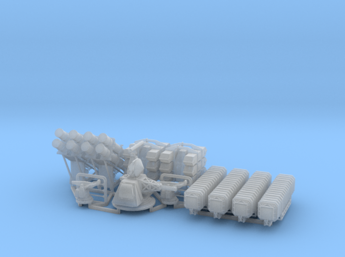 HMS Cornwall set 1/192 3d printed
