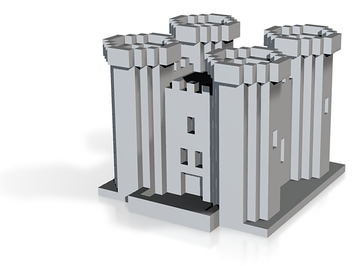Minecraft Castle 3d printed