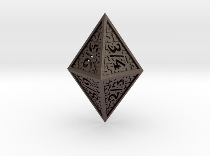 Hedron D8 Tarmogoyf (Hollow), balanced die 3d printed