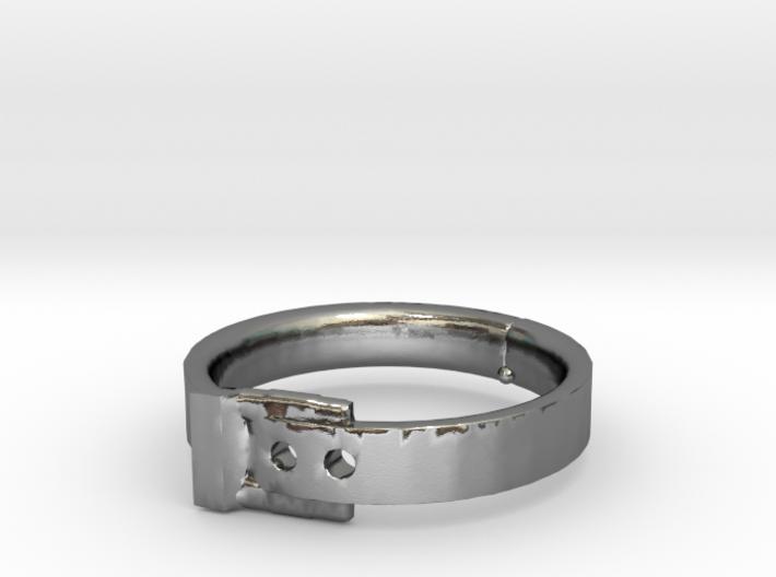 Belt Buckle Ring - Sz. 6 3d printed