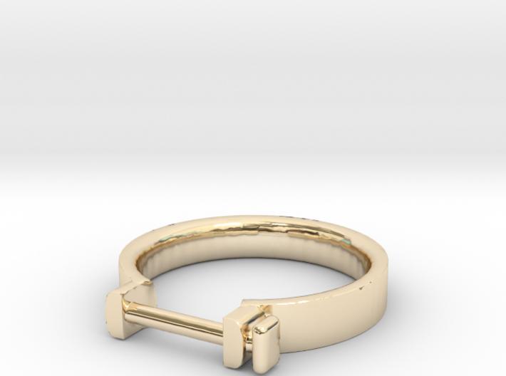 Cowboy Shackle Ring - Sz. 5 3d printed