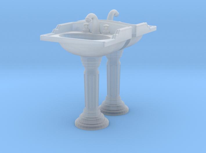 Toilet Sink Ver02. 1:48 Scale 3d printed