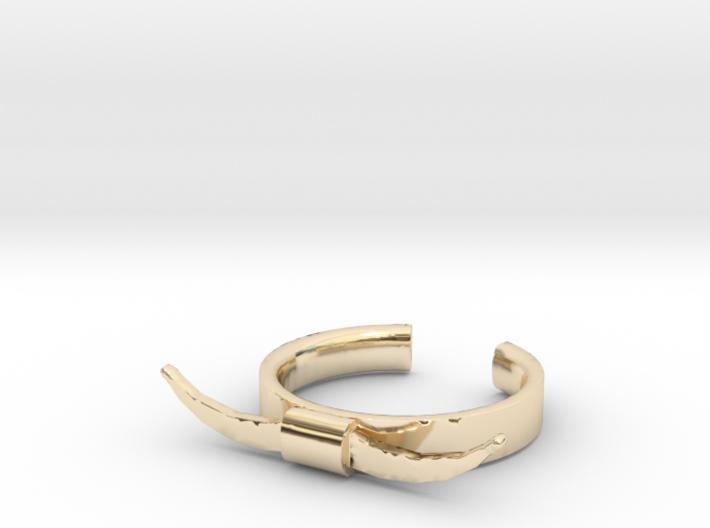 Bull Horn Ring (9) 3d printed