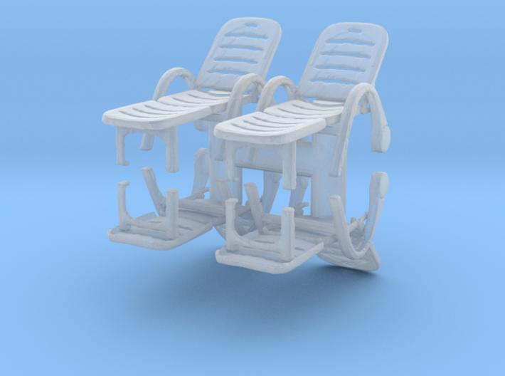 Deck Chair (x4) 1/76 3d printed