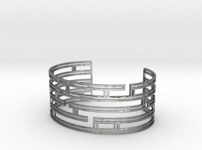Maze Strings Bracelet 3d printed
