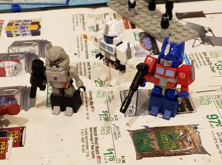 Armor upgrades for Optimus Prime, Megatron Kreons 3d printed Printed and painted, used Class of 85 Ramjet for Magnus