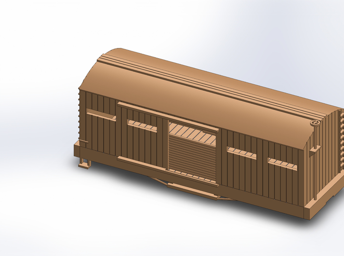 S USMRR ARMORED BOXCAR 3d printed