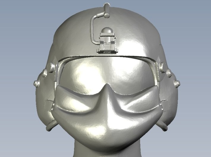 1/48 scale gunner HGU-56P helmet & shield head x 5 3d printed
