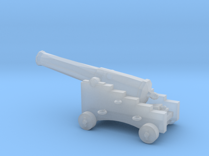 1/72 Scale 32 Pounder M1845 on Naval Carriage 3d printed