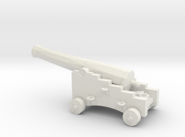 1/48 Scale 32 Pounder M1845 on Naval Carriage 3d printed