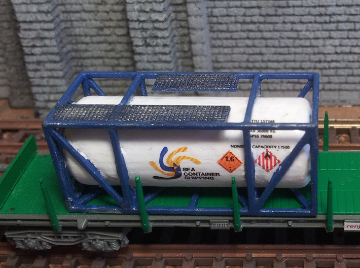 Tank-Container-Model-01 escala N 3d printed