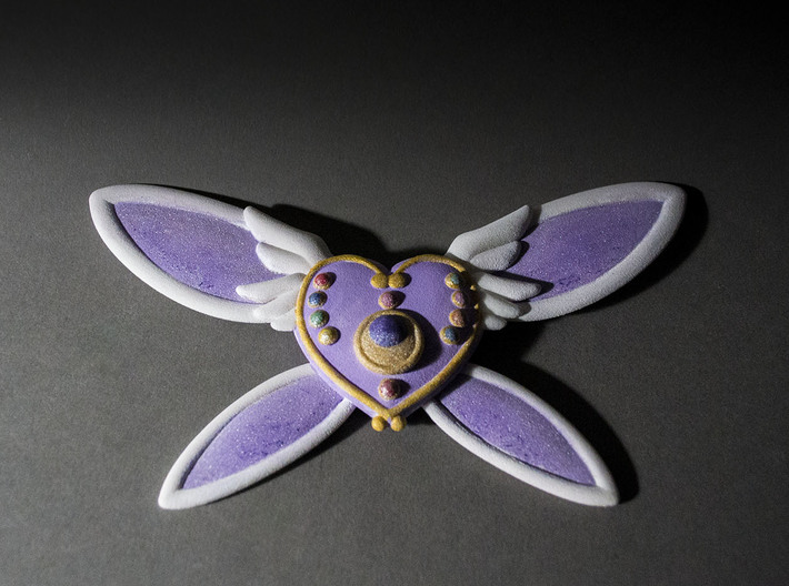 Custom Heart Brooch 3d printed