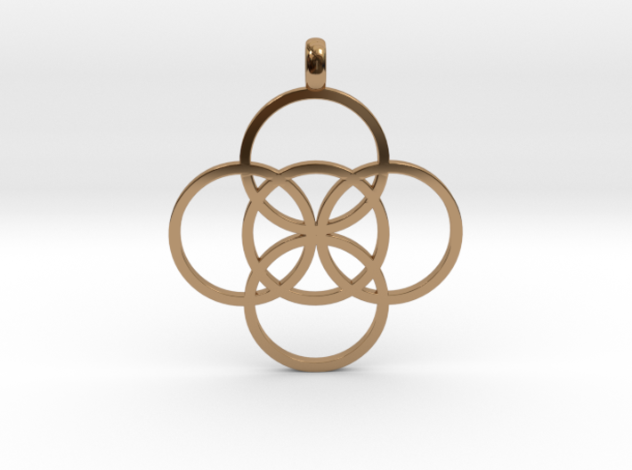 FIVE FOLD Symbol Jewelry Pendant 3d printed