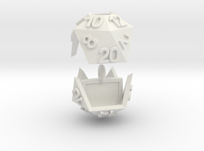 D20 Necklace 3d printed