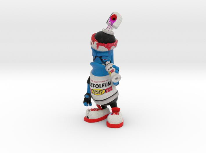 Rust-0leum spray can figurine 3d printed