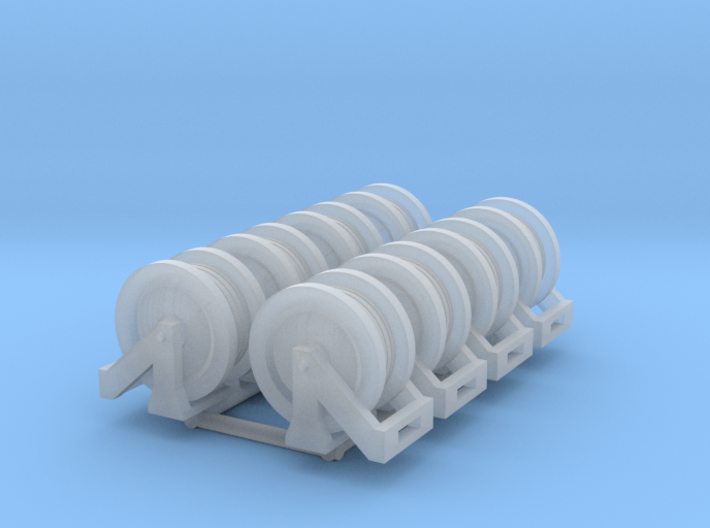 1:50 Hose reels pack of Eight V2 3d printed