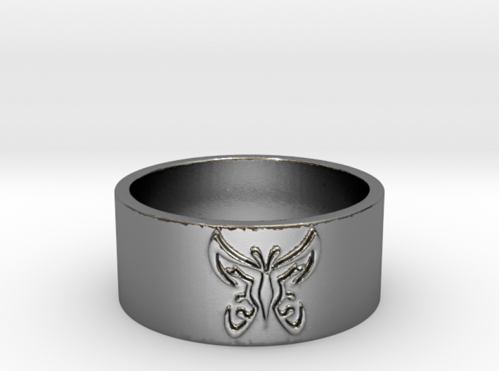 Butterfly V1 Ring Size 7 3d printed