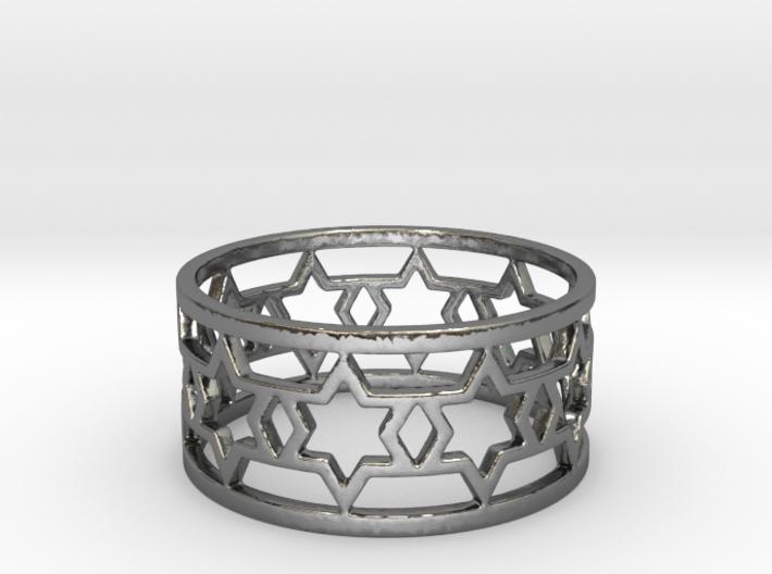 20 star ring v6 Ring Size 7 3d printed
