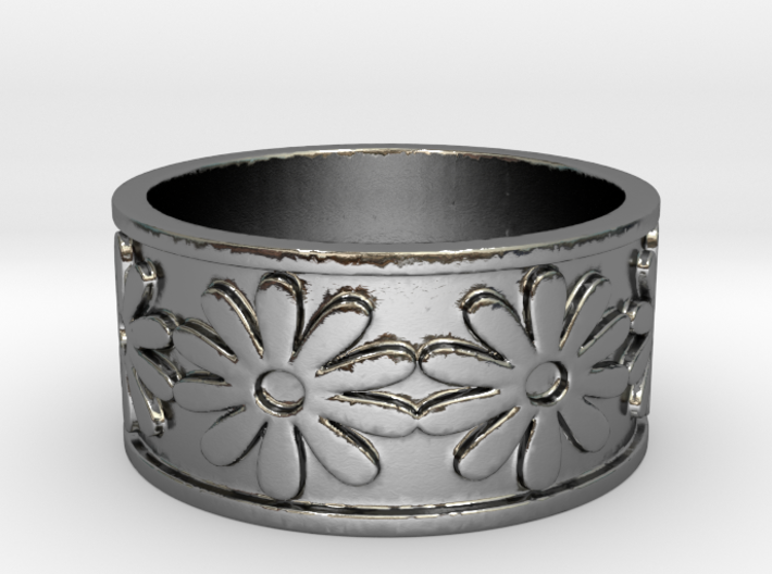 18 Daisy Solid V4 Ring Size 7.5 3d printed