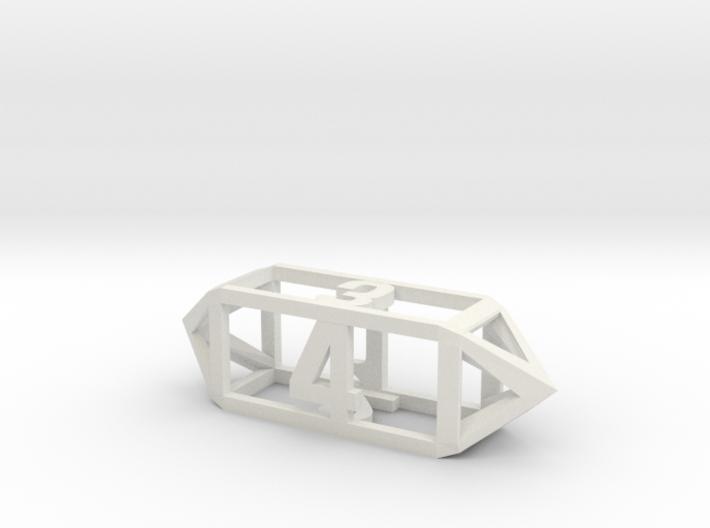 Hollow Barrel Dice D4 3d printed