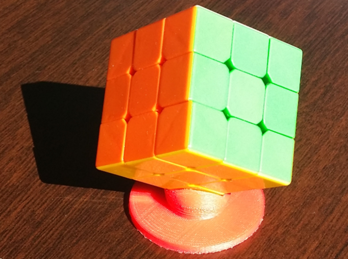 Rubick's cube support 3d printed Red HIPS