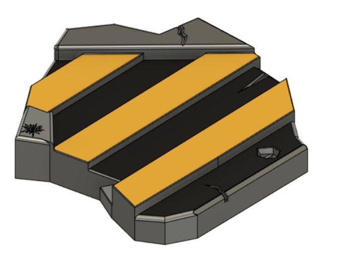 Black and Yellow Plate For Models Bases 3d printed