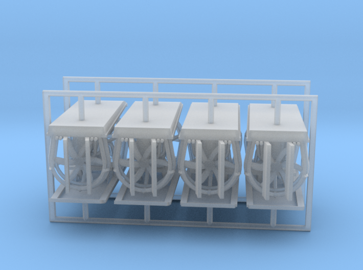 Airboat Z Scale - x8 - Z Scale 3d printed
