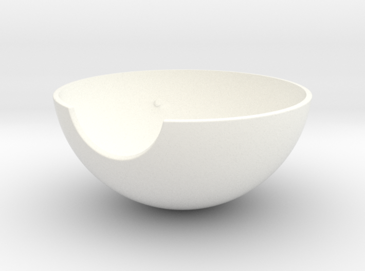 Pokeball - Half-shell - 1:1 scale 3d printed