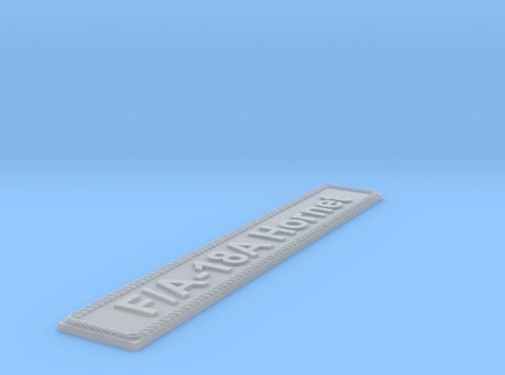 Nameplate F/A-18A Hornet 3d printed