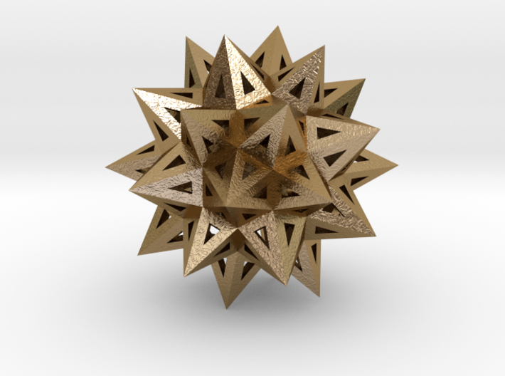 """Stellated Truncated Icosahedron 2.2"""" 3d printed"""