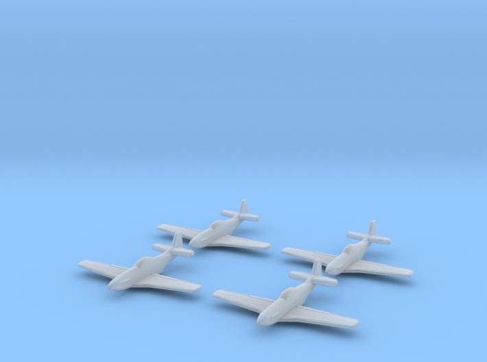 1/700 P-51D x4 (FUD) 3d printed