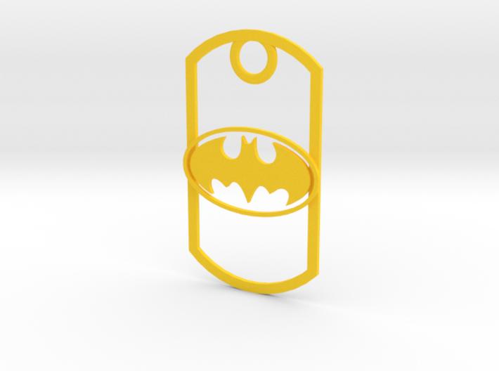 Dogtag-batman2 3d printed