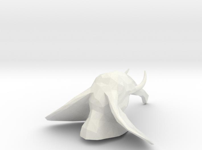 Geo-elephant-head-v3.1-no-holes (2) 3d printed