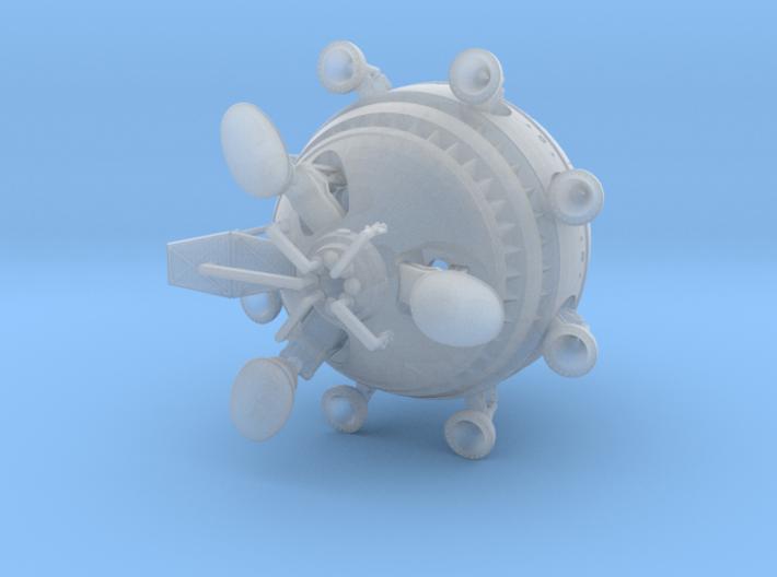 scifi ET movie spaceship 1/400 rev1 3d printed