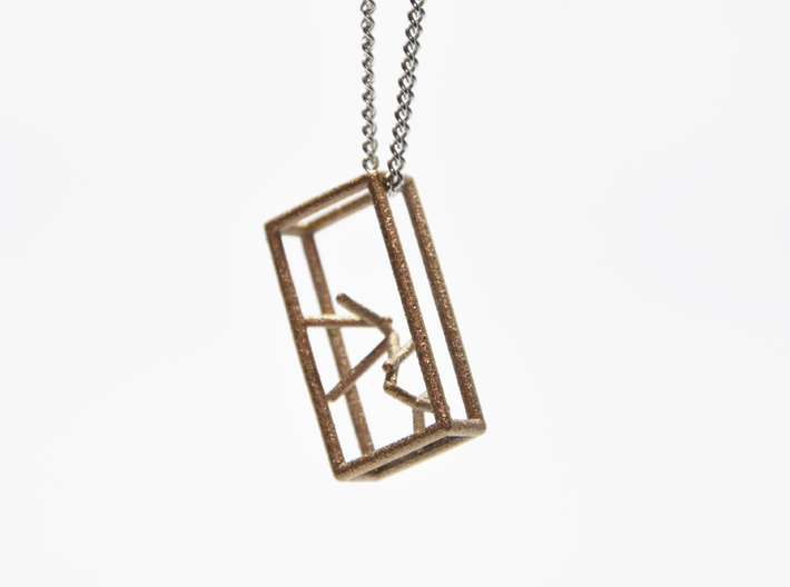 Naked Parallelepiped Pendant 3d printed